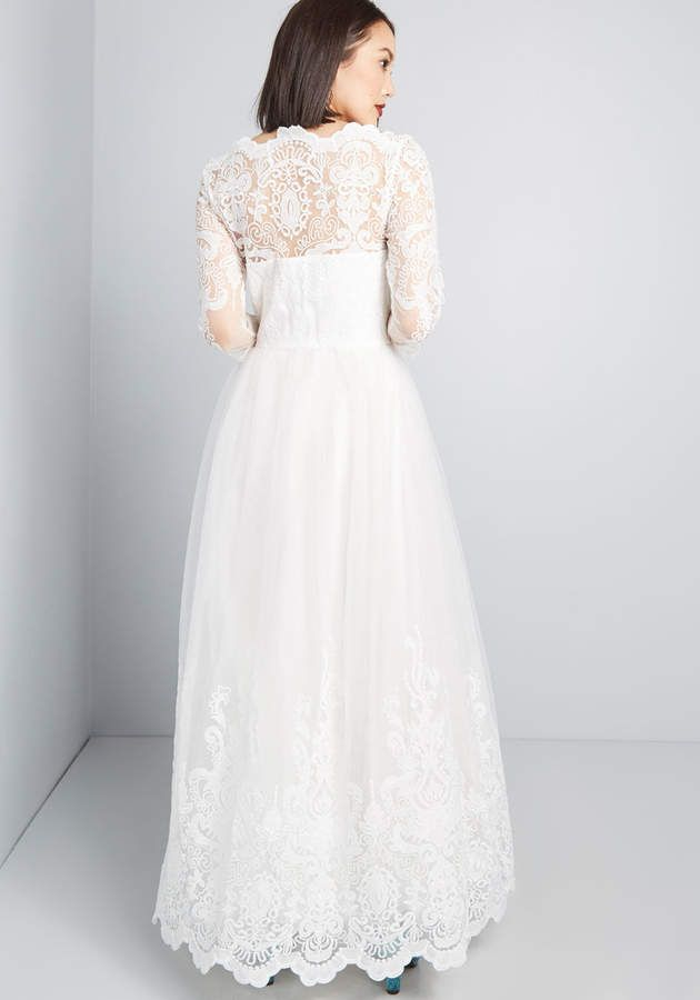 67bd56ce9 Chi Chi London Sophisticated Ceremony Maxi Dress in White  Sophisticated  London Chi