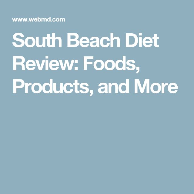 Review Of The New South Beach Diet Food