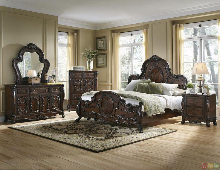 Cherry Wood Bedroom Set Part - 40: Abigail Victorian Antique Style Cherry Bedroom Furniture Setu2026