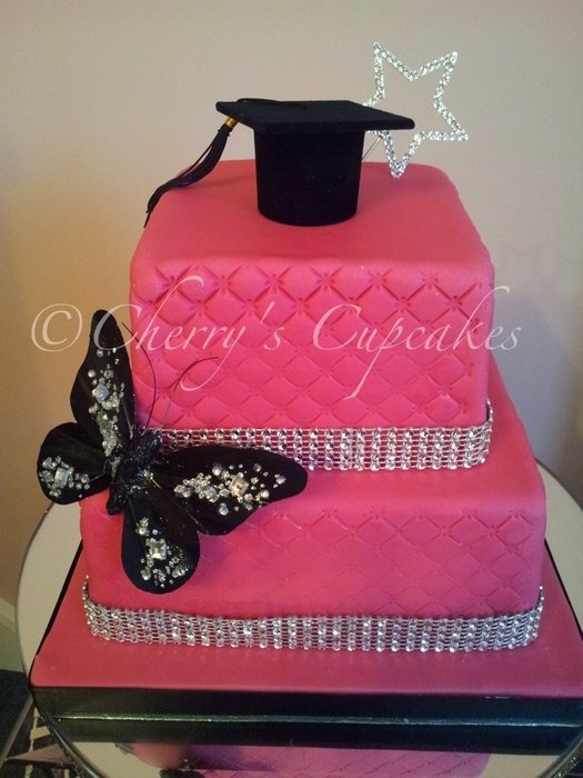 cake graduation cap images | Hot Pink Graduation Cake - by Cherry's Cupcakes @ CakesDecor.com ...