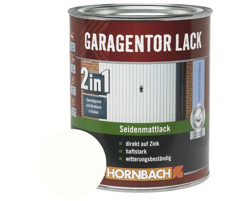 2in1 garagentorlack seidenmatt wei 750 ml bei hornbach kaufen wohnideen - Peinture porte garage ...