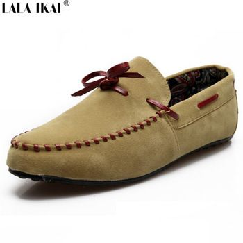 2015 suède loafers mannen bootschoenen slip op casual schoenen mannen mocassins bowtie hoge kwaliteit homme xme0073-5 chaussure rijden schoenen