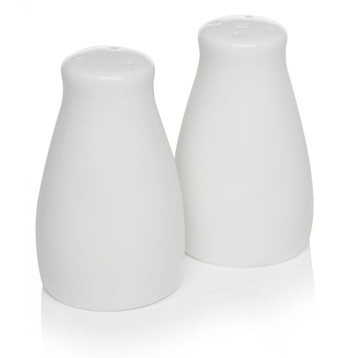 Salt and Pepper Set Ceramic White