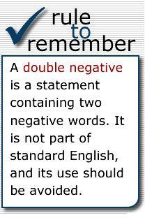 9 best Grammar - Double Negatives images on Pinterest | Double ...