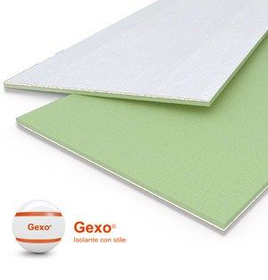 GEXO® - LAPE HD, Pannelli accoppiati con gesso rivestito per l'isolamento termico di pareti e soffitti