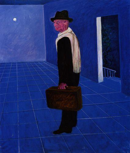 Giuseppe Migneco  La stanza vuota, 1980 Olio su tela, cm 120x99