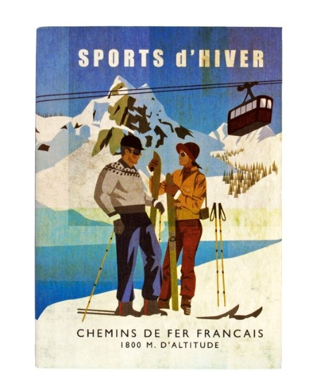 Vintage Ski Posters From around the beautiful French Tarantaise Valley