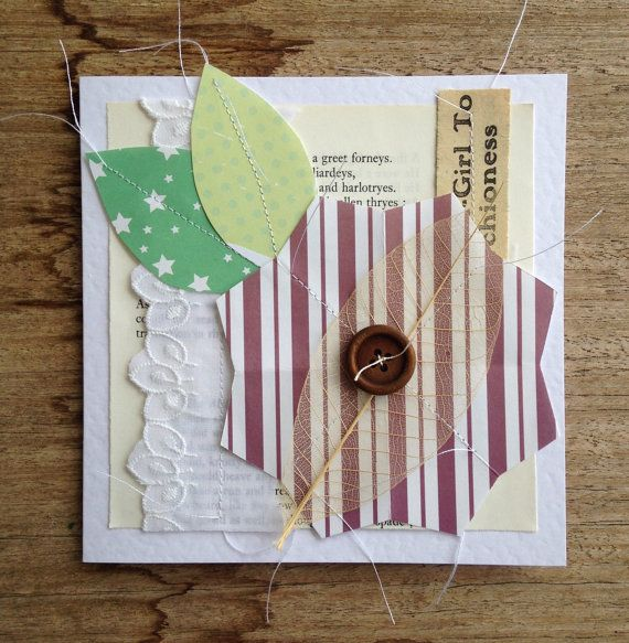 origami flower card by gonerustic on Etsy