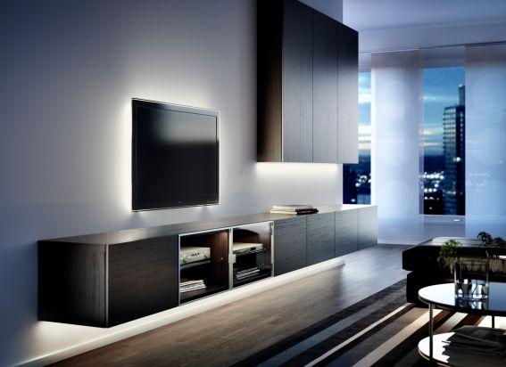 Gebruik INREDA verlichtingleds in je woonkamer voor fijne verlichting tijdens die spannende film. #IKEA