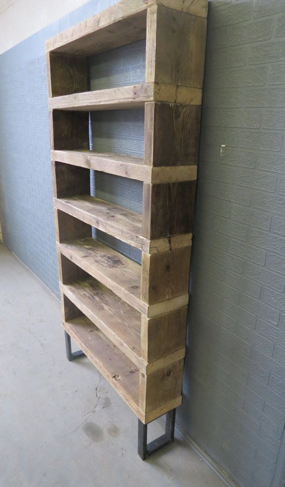 Industrial Chic Reclaimed Custom Steel and Wood by RccFurniture