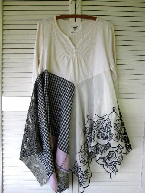 20 off Eco Patchwork Lagenlook tunic by lillienoradrygoods on Etsy, $105.50