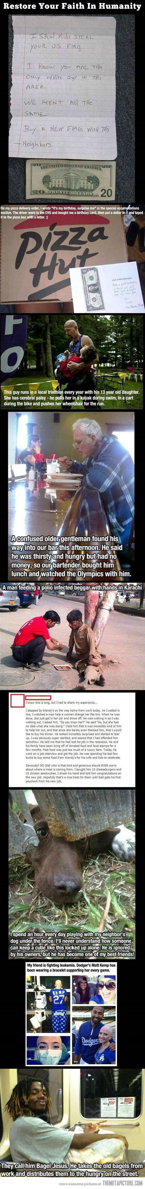 Humanity is not lost yet…