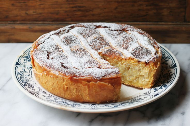 Symbol of the city of Naples, no Neapolitan home would be complete on Easter day without this rich, perfumed ricotta pie.