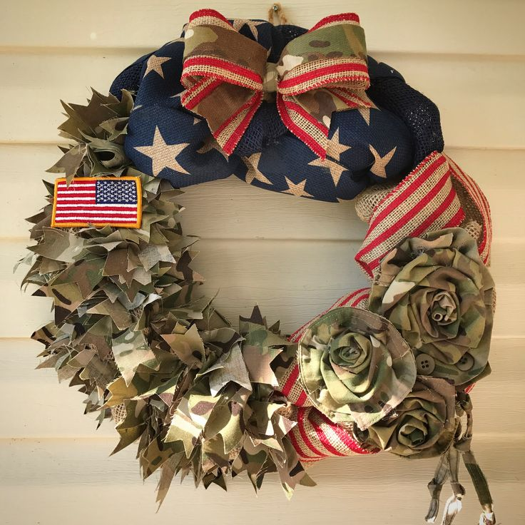 "Army ""new"" ACU-OCP uniform wreath, custom order at www.etsy.com/shop/Awakened4Creation"