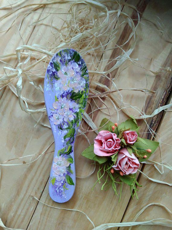 #hair #hairbrush #beauty #forgirl #kids #comb #littlegirl #gift #funny #flowers #Milapollyart #handpainted