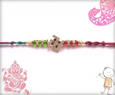 Send trendy and #designer #rakhi for your brother on this #Rakhi #Festival. Send #online Rakhi. Exclusive #Diamond Swastik #Rakhi with Red and Green Crystal Beads,surprise your loved ones with roli chawal, chocolates and a greeting card as it is also a part of our package and that too without any extra charges.  http://www.bablarakhi.com/send-designer-rakhi-online/797-send-exclusive-diamond-swastik-rakhi-with-red-and-green-crystal-beads-online.html