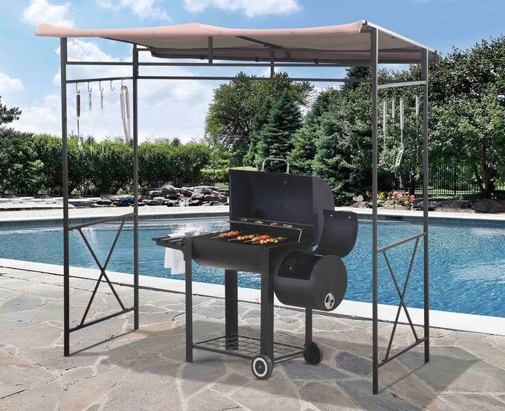 Grill GazeboPatio Gazebo MetalRust Resistant 7 X 5 Ft For The Enthusiast