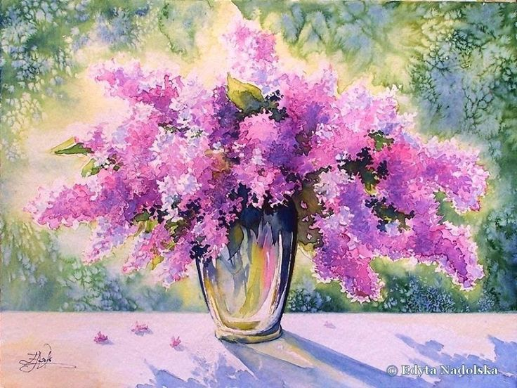 Edyta Nadolska Watercolor Art - 'Bouquet of May'