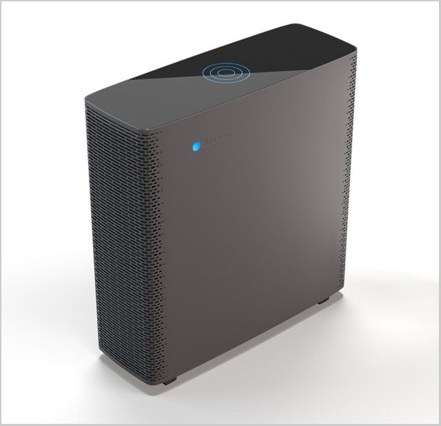Blueair Sense Air Purifier using a 2nd generation HEPA Silent Plus filtration system. Designed by Claesson Koivisto.