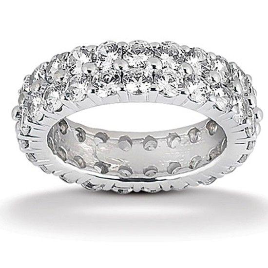 Evighetsring med 2.40ct Diamanter