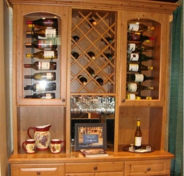 Wine Cellar   Stained Pine Hutch   Home And Garden Design Ideas   Closet  Factory