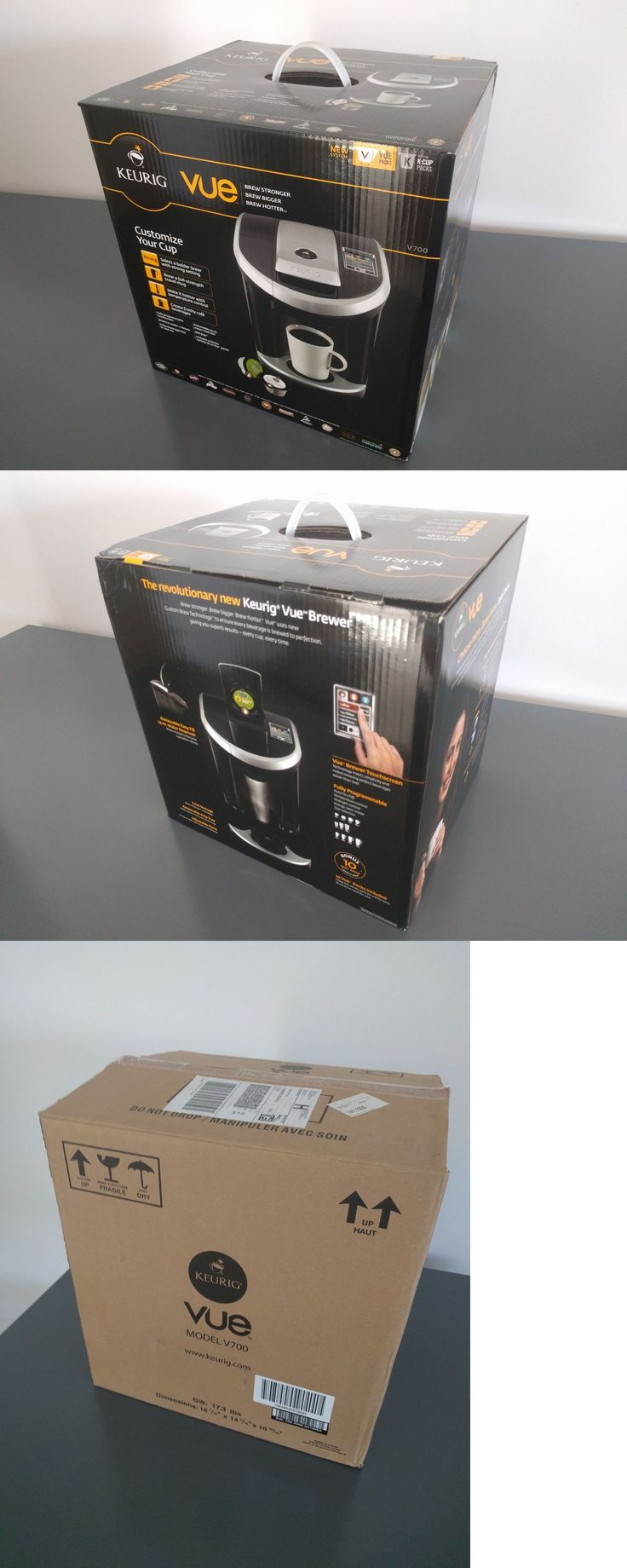 Single Serve Brewers 156775: Brand New Keurig Vue V700 Single Cup Coffee Maker Machine Brewer - Msrp $199 -> BUY IT NOW ONLY: $129 on eBay!