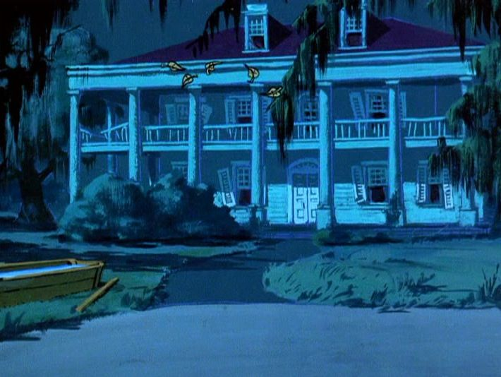 abandoned mysterious background paintings from scooby doo episodes - Halloween Point And Click Games