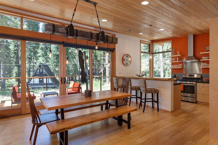 Method Homes - Tahoe Cabin | dining room ideas | dining room table | dining room decor | dining room | dining room lighting