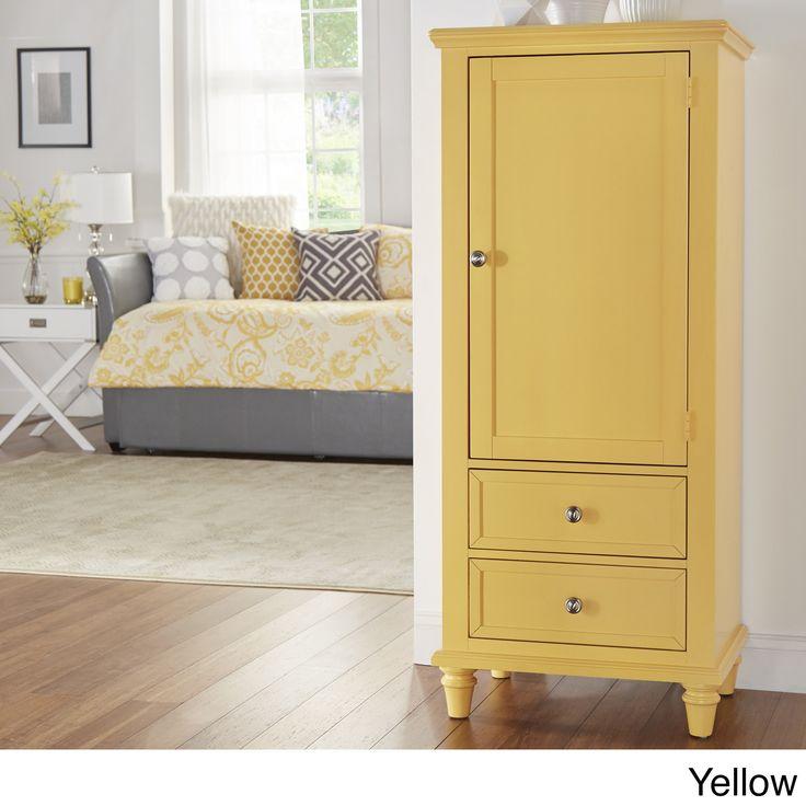 IQ KIDS Preston Wooden Wardrobe Storage Armoire | Overstock.com Shopping - The Best Deals on Kids' Dressers