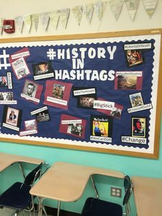 History in Hashtags - would be good to have students come up with the hashtags after studying the different subjects