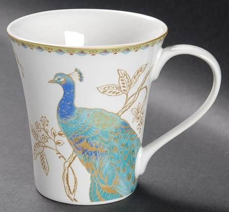Mug In Peacock Garden By 222 Fifth (PTS) At Replacements, Ltd. Special