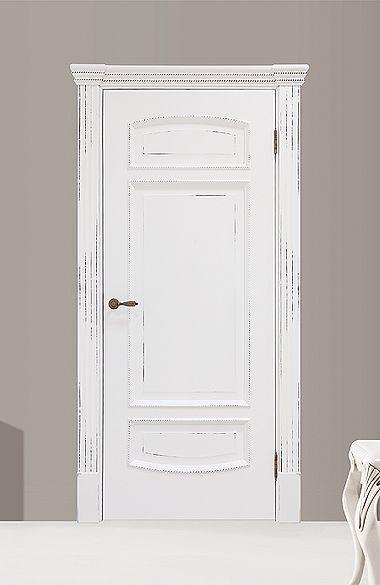 Межкомнатная дверь «Верона». Отделка «белая эмаль с шоколадной патиной»…