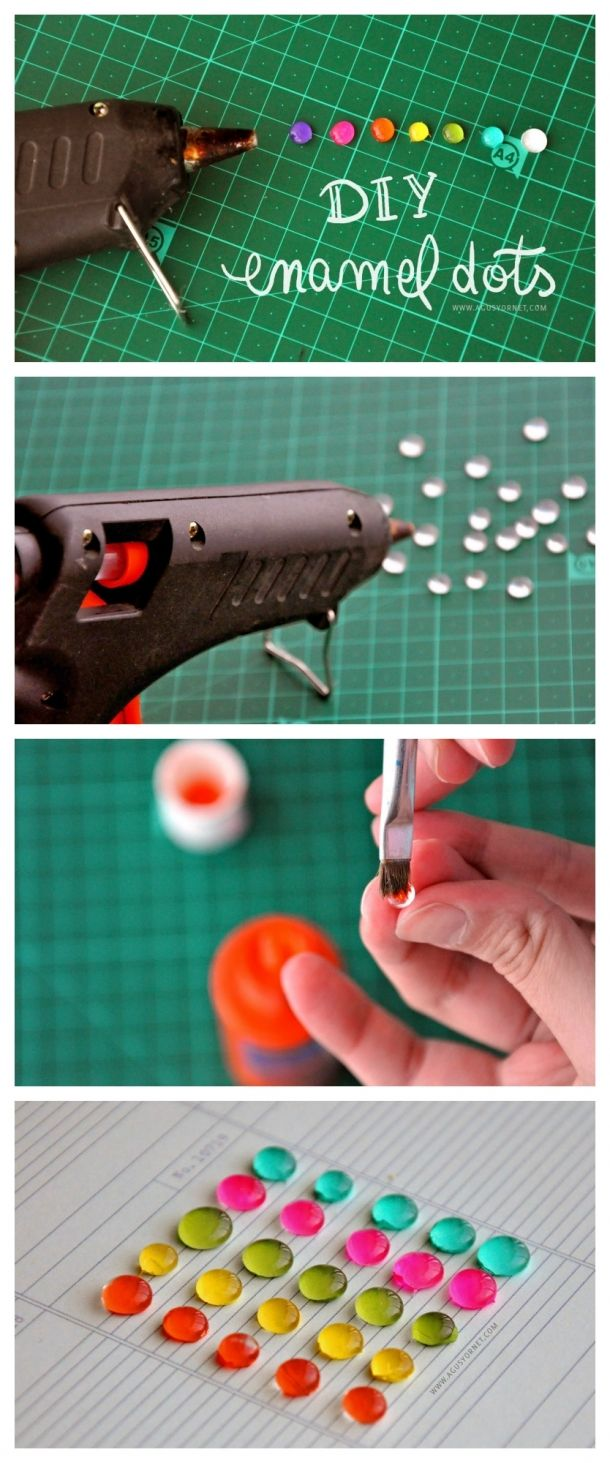diy enamel dots embellishment tutorial More