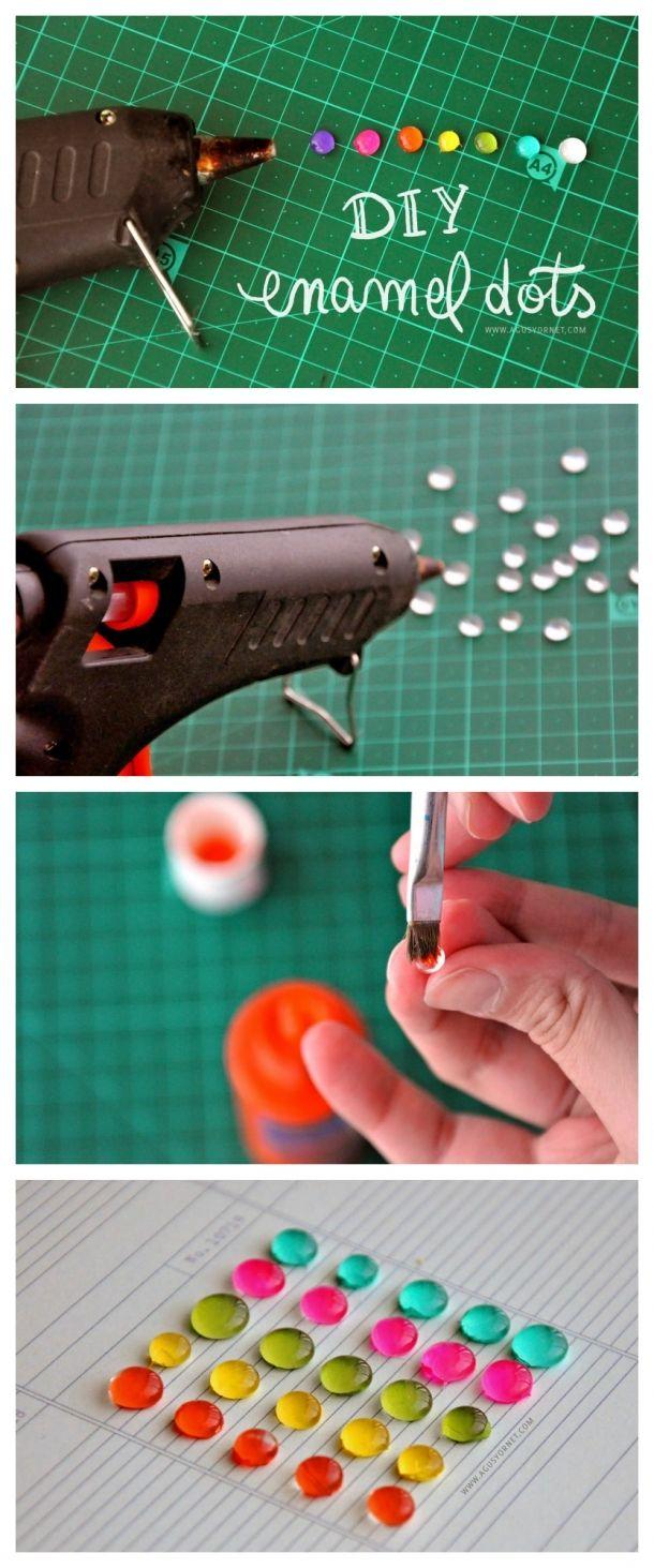 diy enamel dots embellishment tutorial