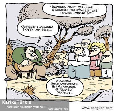 Ölmeden Önce Yapılması Gerekenler - Karikatür okuma'nın yeni hali !