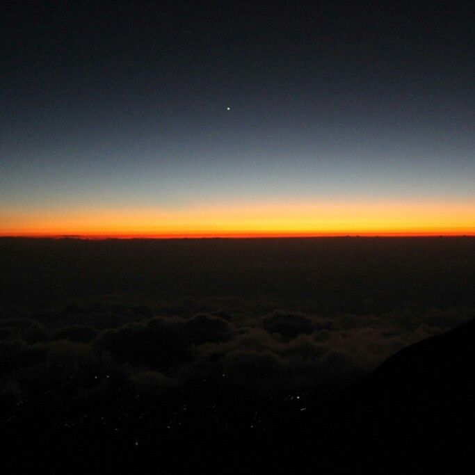 Sunset. Mt. Merbabu. Central Java. Indonesia.