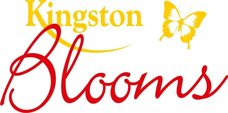 Kingston Blooms logo created by Peter Gourley