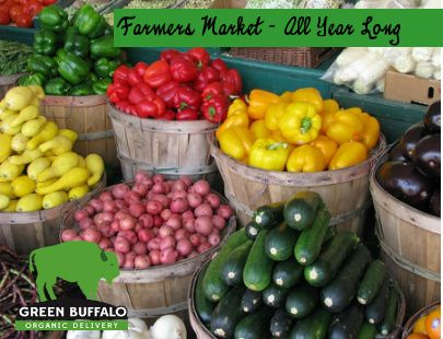 Farmers market all year long with Green Buffalo of Fort Collins, Colorado. Order food for delivery at http://GreenBuffaloGrocery.com and see all our great blogs and recipes by clicking through on our Farmer's market link here http://GreenBuffaloBlog.com We service all of Northern Colorado. #FortCollins #Loveland #Wellington and other local areas. Call us at 970-818-6555