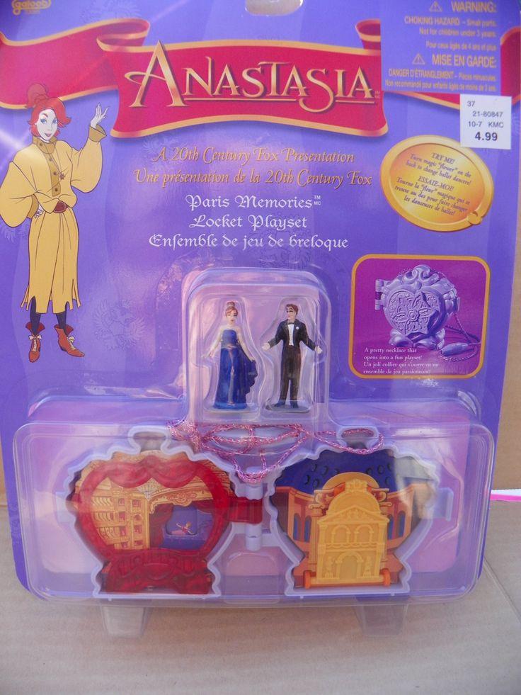 Vintage Anastasia Paris Memories Locket Playset , 1997 Galoob Anastasia Necklace Polly Pocket Style Locket Play Set with Dolls , Paris Movie by ShersBears on Etsy