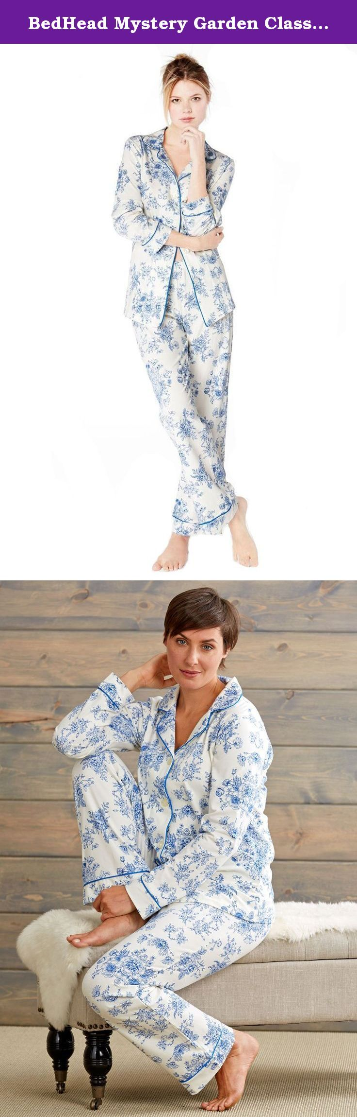 BedHead Mystery Garden Classic Stretch Made in USA PJ Set (XL). These pajamas' coolly elegant floral print and sublime softness will lull you into a state of somnolent serenity. And the knit fabric's built-in stretch lets you rest in unrestrained freedom throughout the night. Crafted by your fellow Americans in Los Angeles, they're impeccably tailored from contrast piping to plush elasticized waistband.