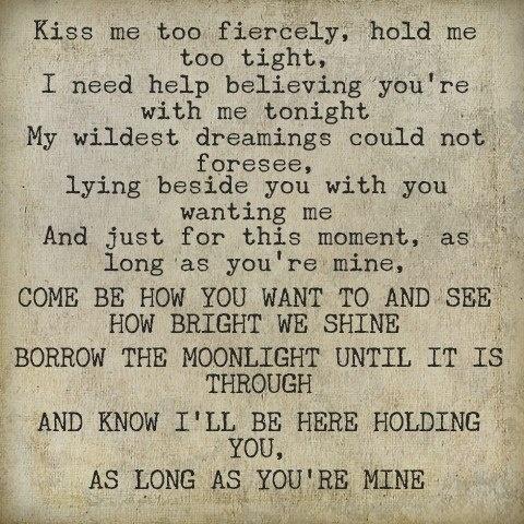 "-- #LyricArt for ""As Long As You're Mine - Original Cast Recording/2003"" by Idina Menzel"