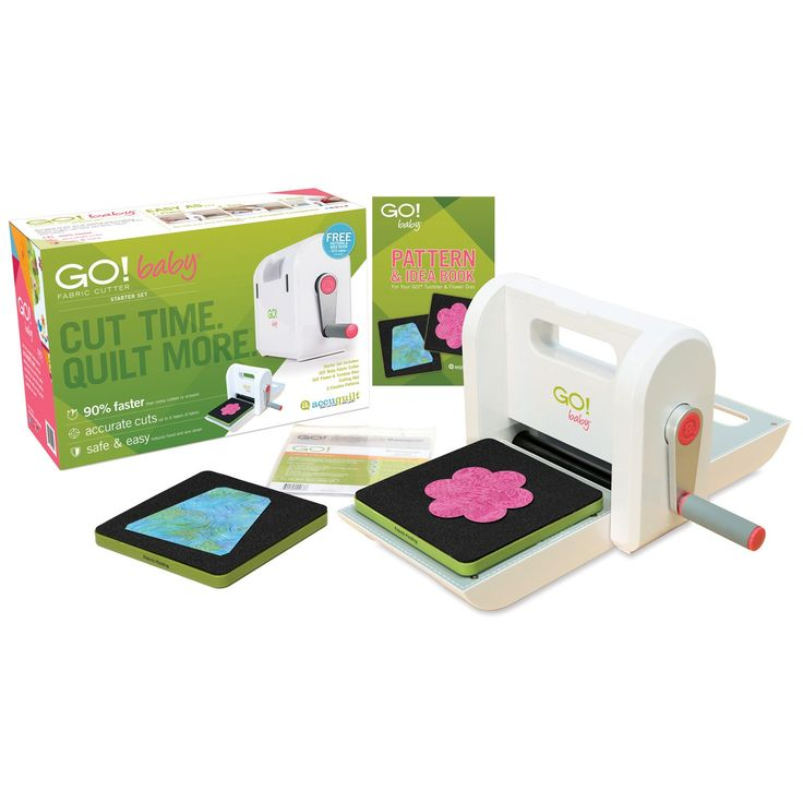 GO! Baby Fabric Cutter Starter Set (55600) - shown with everything included in the set.
