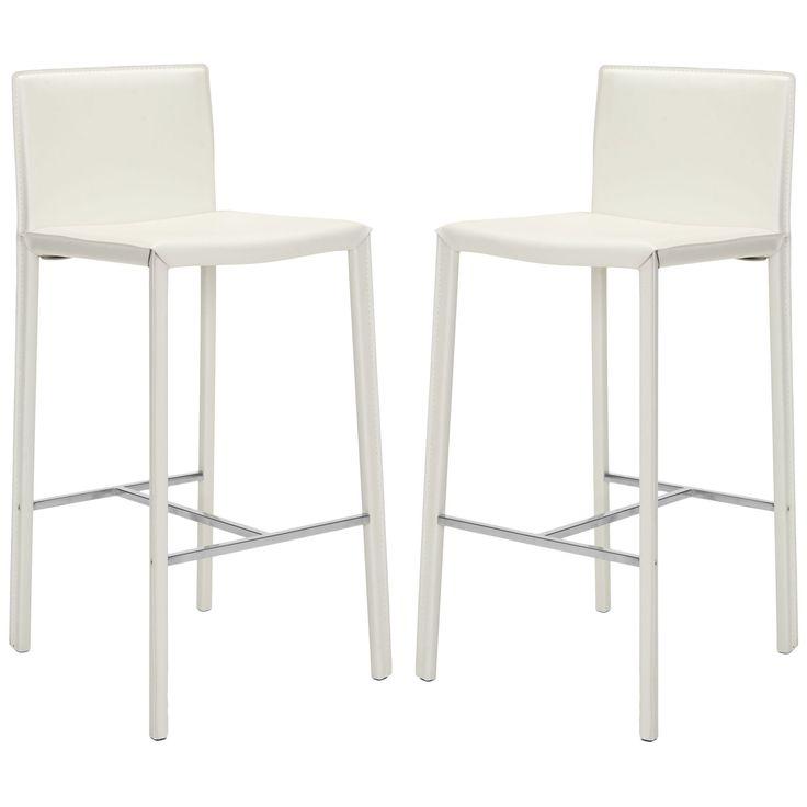 White Leather Barstools 13 best kitchen island bar stools images on pinterest | kitchen