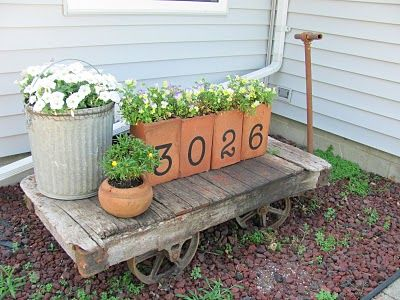 113 best images about creative container gardens on pinterest for Funky garden accessories