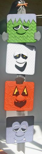 Halloween Monster Banner by julie in ohio - Cards and Paper Crafts at Splitcoaststampers