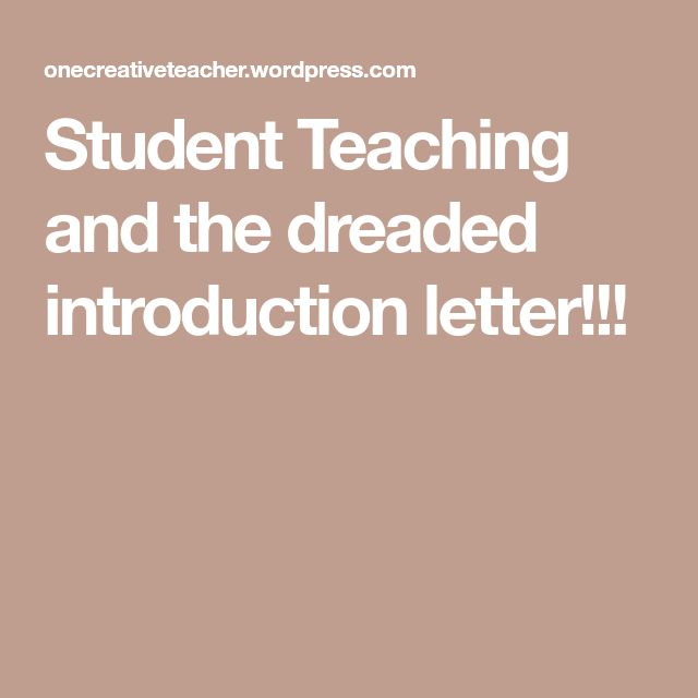 The  Best Introduction Letter Ideas On   Letter To