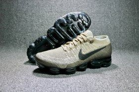 2bdb22f9993 Nike Air VaporMax Flyknit 2018 Khaki Anthracite 849558 201 Mens Running  Shoes Summer Trainers