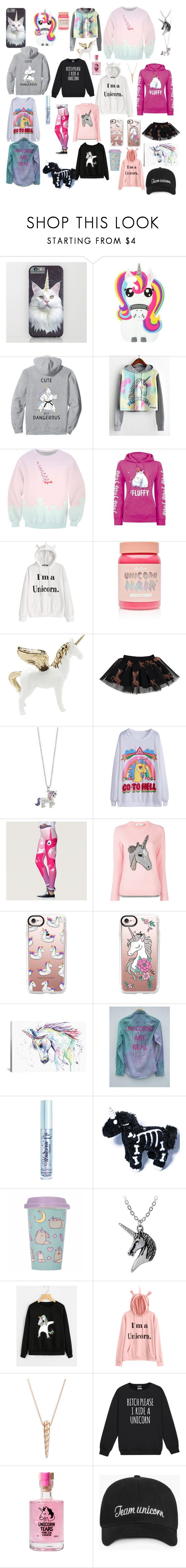 """""""Unicorn Pack 2"""" by harrystyleslove02 ❤ liked on Polyvore featuring WithChic, Lime Crime, Caroline Bosmans, Coach, Casetify, iCanvas, Too Faced Cosmetics, Pusheen and Ginette NY"""