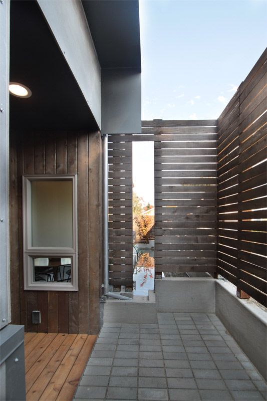 Custom Designed Entry for Town Homes by First Lamp Architecture in Seattle Washington