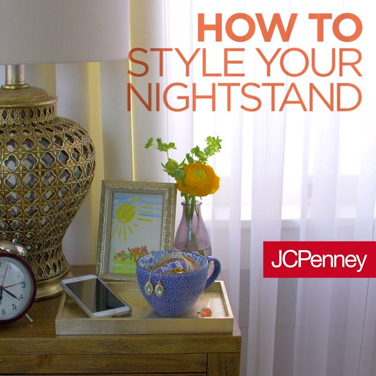Watch how to style your nightstand with these quick tips that add a little décor and organization. Adding framed art or flower and use a coffee cup to hold your jewelry Place a utensil organizer inside your nightstand drawer keeps your bedtime space organized and decorated.